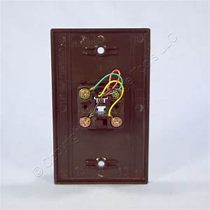 Leviton Brown Phone Jack Wall Plate 4
