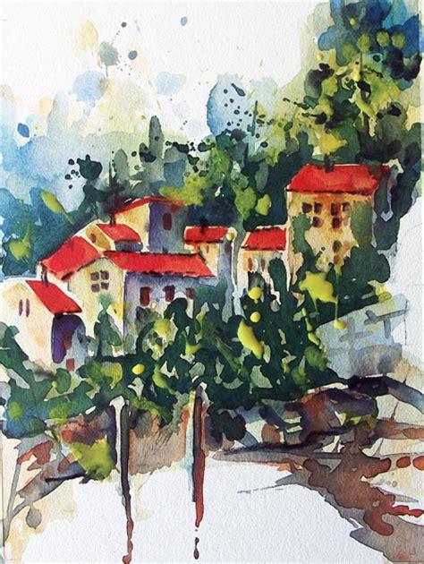 Tiny Häuser Dorf by Dorf Am Hang Hang Dorf H 228 User Aquarell Felischa