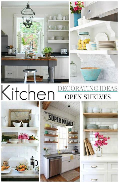 decorating kitchen shelves ideas cottage farmhouse kitchens inspiring in white fox