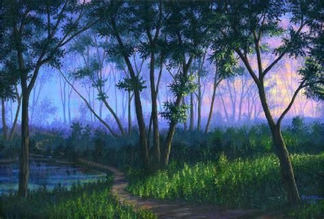 comment peindre une toile a l acrylique dessin et peinture vid 233 o 711 comment peindre le brouillard dans une for 234 t 224 l acrylique sur