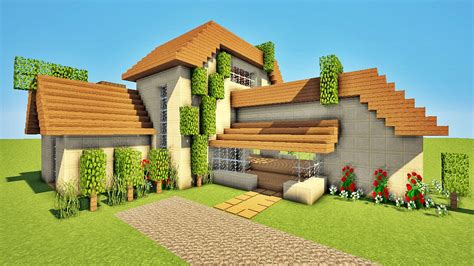 Hd Wallpapers Petite Maison Moderne Minecraft Defroi Love8designwall Ml