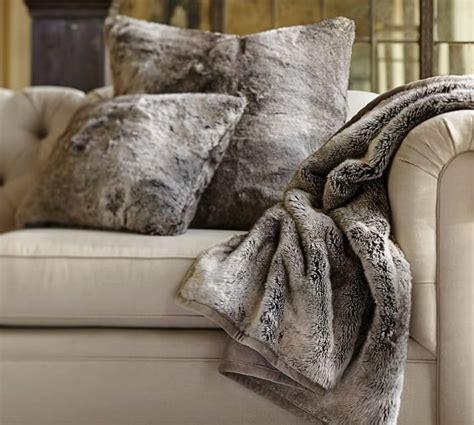 faux fur pillow faux fur pillow cover gray ombre pottery barn