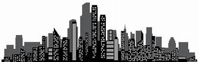 Skyline Silhouette Gotham Clip Transparent Cityscape Skyscraper