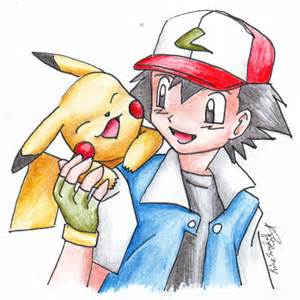Ash and Pikachu Drawing