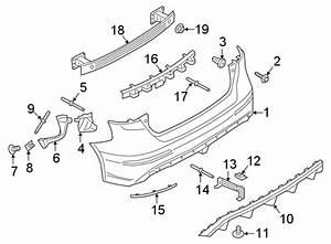 Ford Focus Bumper Impact Bar  W  Rs  Rear  Hatchback