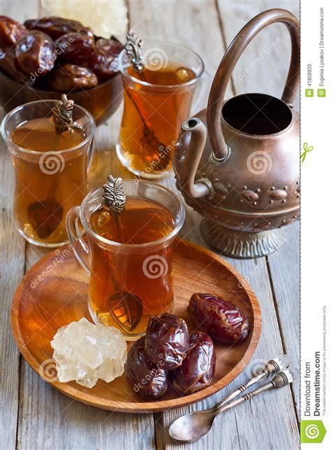 arabic tea   stock photo image