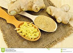 Racine De Gingembre : gingembre frais et sec dans des cuill res en bois ~ Melissatoandfro.com Idées de Décoration