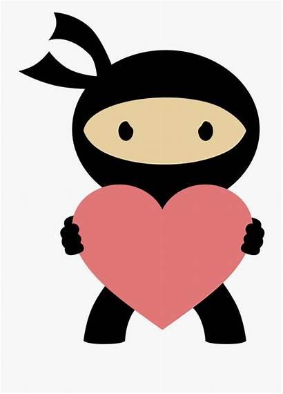 Ninja Clip Clipart Valentine Cartoon Transparent Royalty