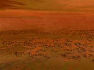 Artist's Concept of the Surface of Saturn's Moon Titan ...