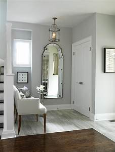 Gray walls transitional entrance foyer ici dulux for What kind of paint to use on kitchen cabinets for nappes papier