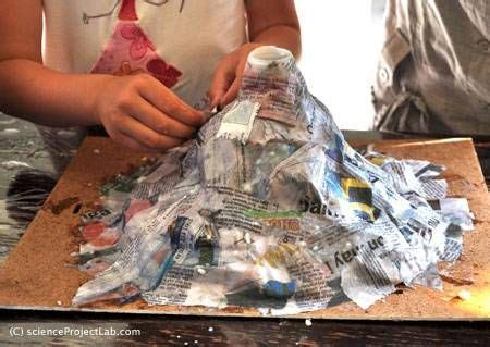 building volcano model layer  layer crafts pinterest