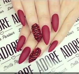 stiletto red matte nails | Nails~ | Pinterest | Matte ...