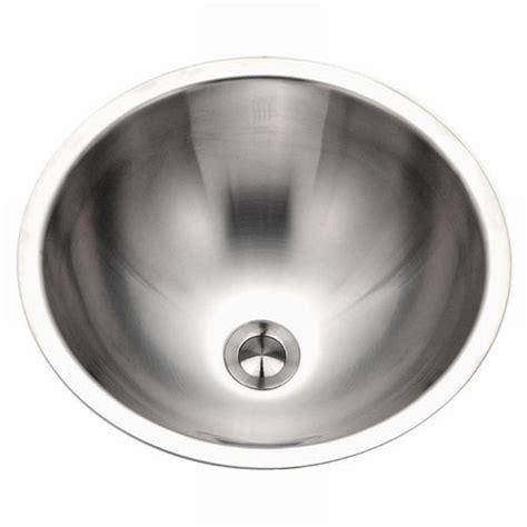 round stainless steel sink houzer hammerwerks baby round undermount copper lavatory