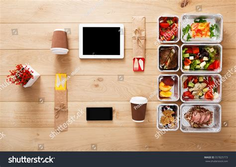 plan cuisine restaurant healthy restaurant food order diet stock photo