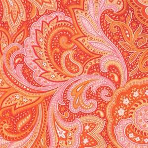 Pink and orange paisley | The Colorful | Pinterest