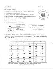 Chem Review Guide Answer Key  Atomic Basics Answer Key Part A Atomic Structure 1 Draw five