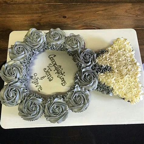 engagement ring cake ideas   wedding dress