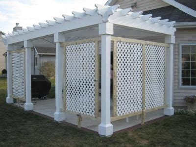 pin  gail russell  arbors trellis   white