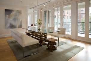 dining room benches with contemporary edge