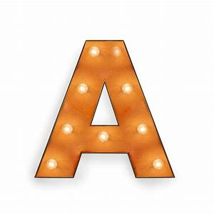 Letter A with Light Bulb - Reallynicethings