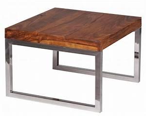Tisch 40 X 60 : wohnling beistelltisch massiv holz sheesham wohnzimmer tisch metallgestell landhaus stil ~ Bigdaddyawards.com Haus und Dekorationen