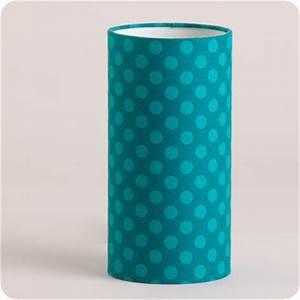 Lampe Bleu Canard : lampe tube poser en tissu motif pois vintage bleu canard grain de ciel ~ Teatrodelosmanantiales.com Idées de Décoration