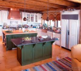 kitchen island color ideas log home kitchens pictures design ideas