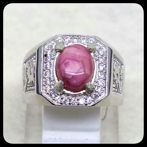 jual cincin batu akik permata natural ruby johnshon ring alpaka mewah indah
