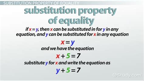 substitution property  equality definition examples
