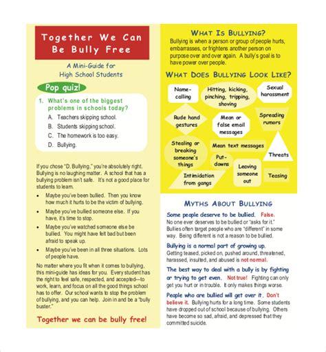 bullying brochure templates ai psd google docs