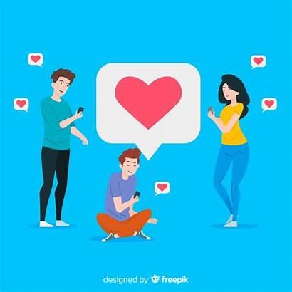 Social Young Likes Looking Sozialen Junge Medien