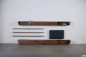 Meuble Tv Design Bois : meuble tv modulable bois massif meuble tv meubles ~ Melissatoandfro.com Idées de Décoration