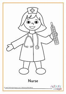 Nurse Colouring Page 2