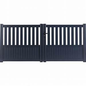 Portail 4 Metres 2 Vantaux : portail battant aluminium penmarch gris anthracite ~ Edinachiropracticcenter.com Idées de Décoration