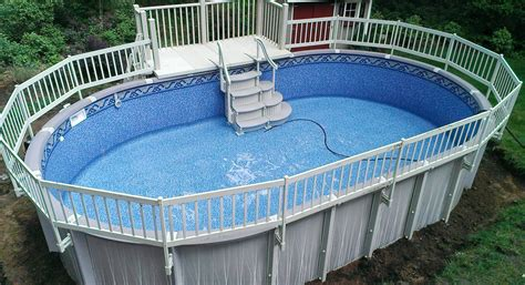 resin deck on trevi pool above ground pool decks decking and pool steps