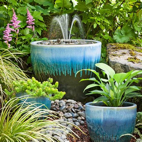 backyard water fountains diy garden
