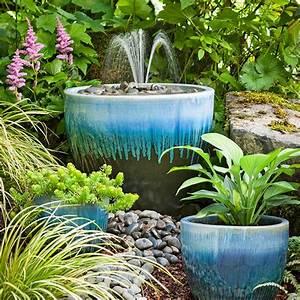Diy garden fountain for Backyard water fountains