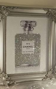 Unique 10x8 Shabby Chic Chanel No5 Canvas Print Swarovski