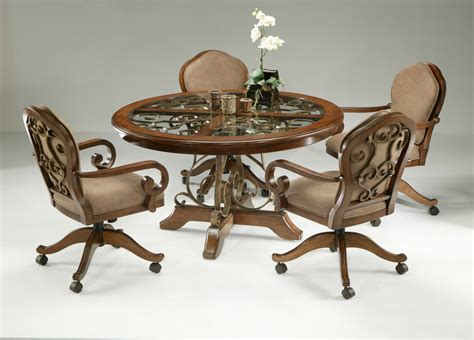 Lovely Kitchen Table Chairs With Rollers Kitchen Table