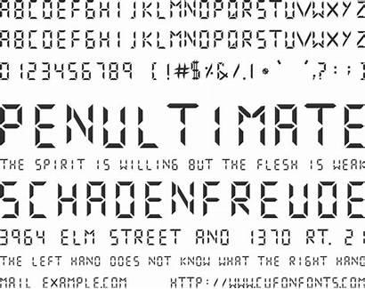 Digital Numbers Font Regular Desktop