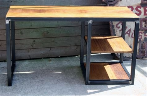 bureau style industriel création meuble fabrication sur mesure meuble bois métal