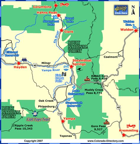 Steamboat Zip by Steamboat Springs Local Area Map Colorado Vacation Directory