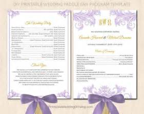 Wedding Program Paddle Fans Template