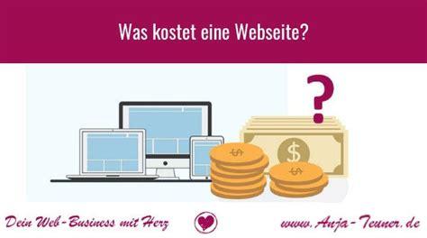 was kostet eine webseite anja teuner de