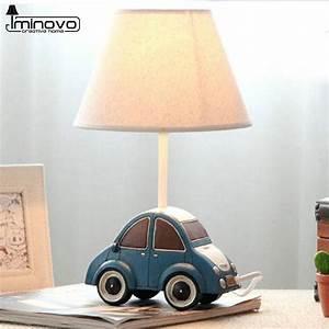Iminovo table lamp e14 bulbs dimmable bedside lamp cute for Cars 2 table lamp