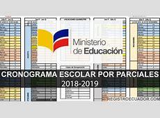 Cronograma Escolar por Parciales 20182019 Ministerio