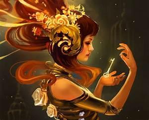 Women, Fantasy, Art, Keys, Gold, Headdress, Wallpapers, Hd, Desktop, And, Mobile, Backgrounds