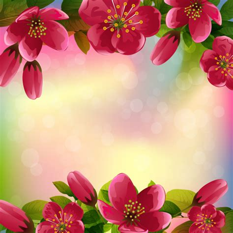beautiful red flower vector background