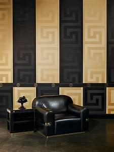 Schwarz Gold Tapete : goldene tapeten strahlen w rme aus und sorgen f r magische momente ~ Yasmunasinghe.com Haus und Dekorationen