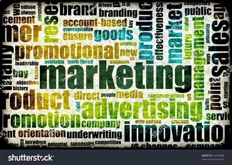 Marketing And Advertising Company by Marketing Background As With Related Terms Stock Photo